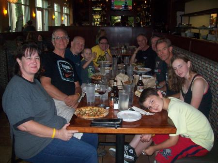 Left to right: Wife#1, Davidh-MarinCA, Jason Burgess, Collin Burgess, Amanda Burgess, MattC, Zeeter, Greg C, Sage and Rune.